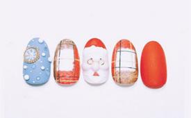 2017圣诞美甲有什么款式图片 红色圣诞节美甲教程图解